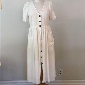 Zara Linen Maxi Dress